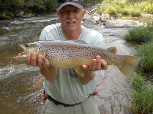 Joe Willis and a Big Rock Creek Brown Trout